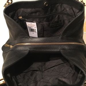 Michael Kors Bags - MICHAEL KORS Leighton Black Pebble Leather Purse
